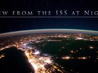 Ein nächtlicher Blick von der ISS auf die Erde