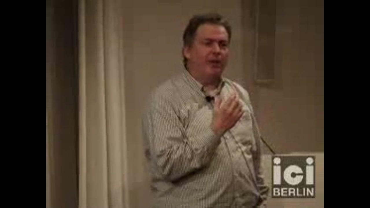 Lecture by Mark A. Bedau, part 1