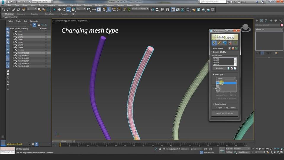 TurboSplines 3dsMax plugin: Creating Path Deformed Mehes