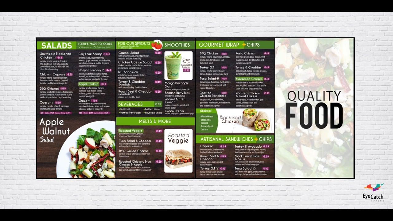 EyeCatch Digital Menus for Restaurants