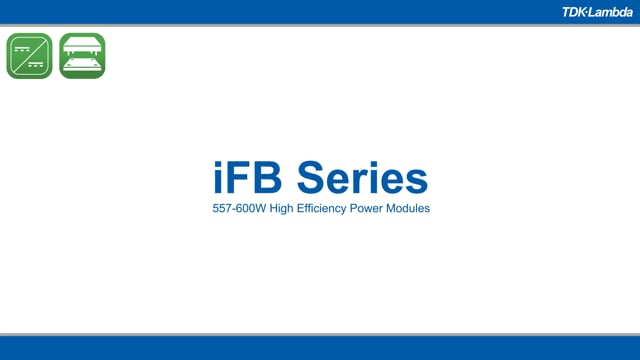 iFB 557-600W Isolated DC-DC Converters Video