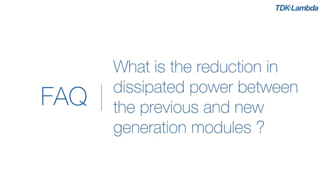 What is the reduction in dissipated power between previous and new generation PFE-FA DC-DC Power Modules?
