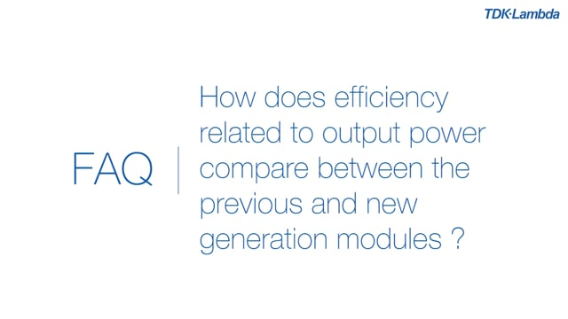 How does efficiency compare to previous PFE1000-F power modules?