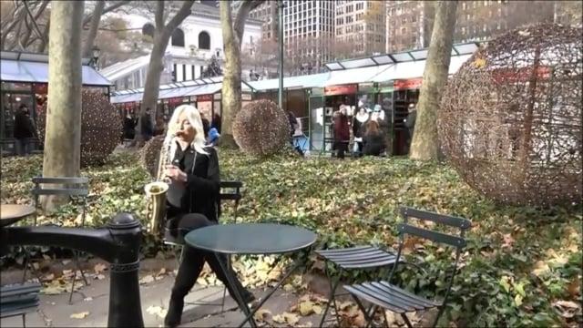Saxophonistin Aretha – Engelstöne auf dem Saxophon    video preview