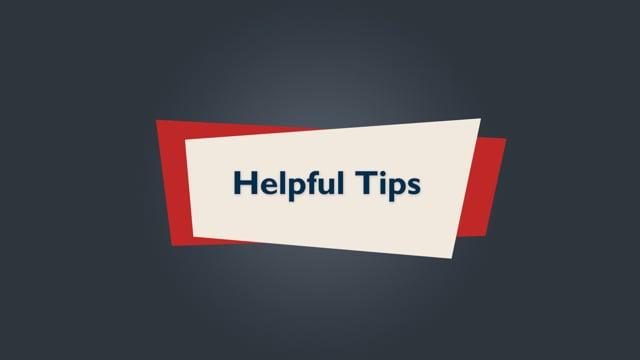 Brightspace Orientation 19_Helpful Tips