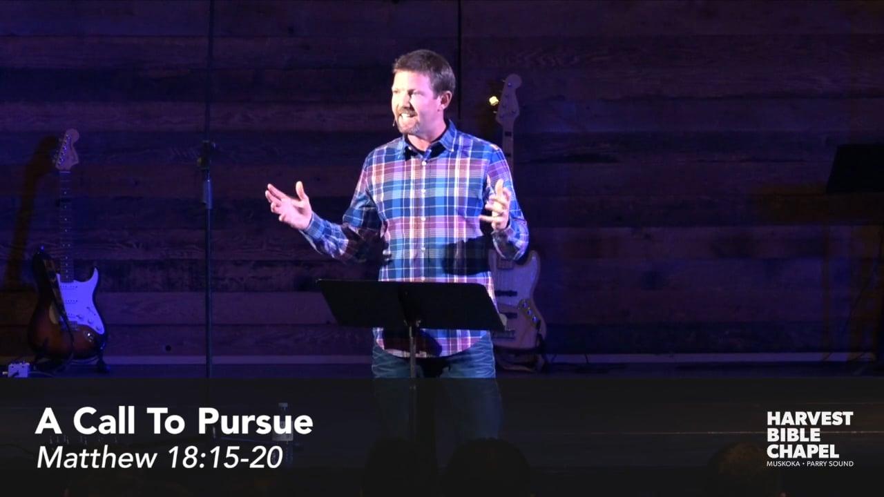 A Call To Pursue