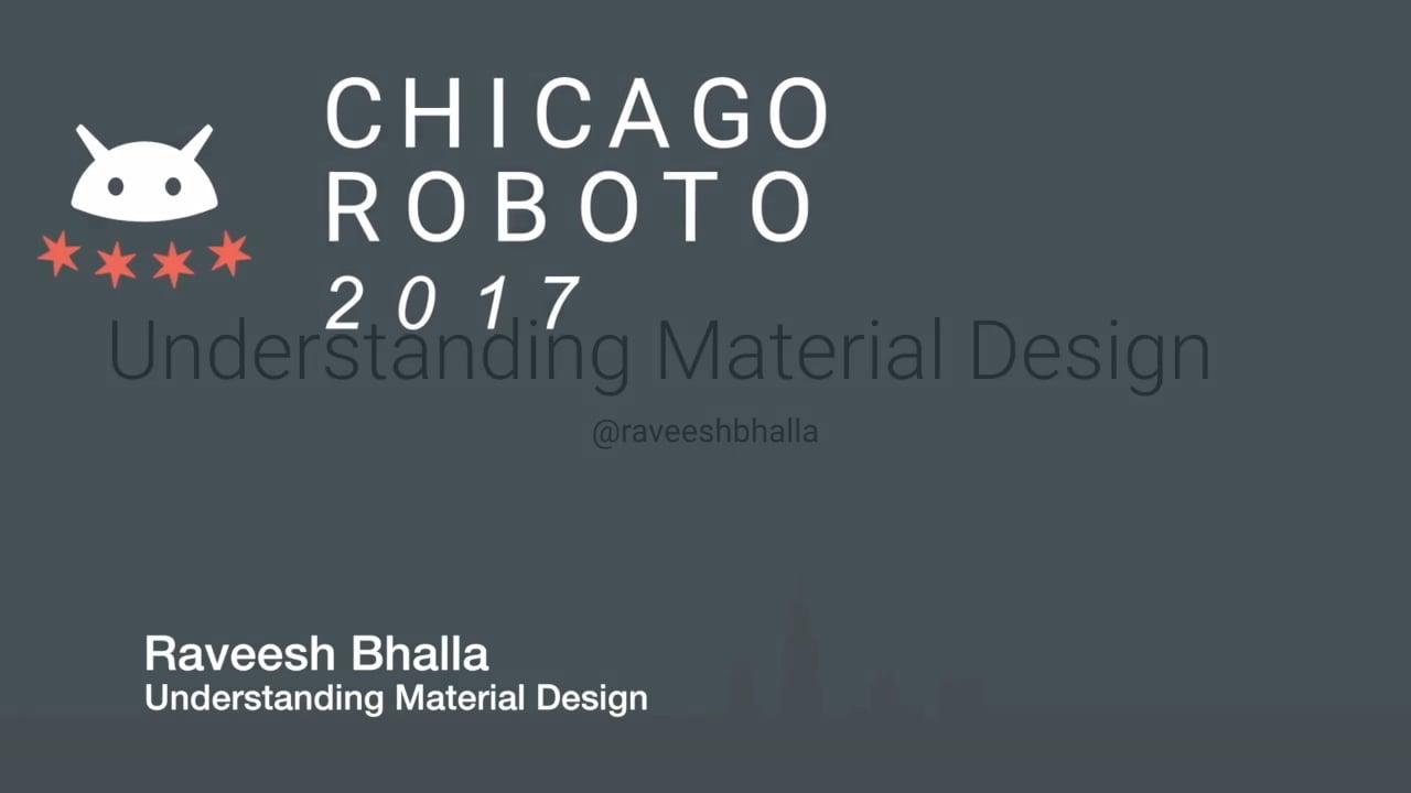 Raveesh Bhalla - Understanding Material Design