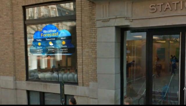 Storefront Window digital signage