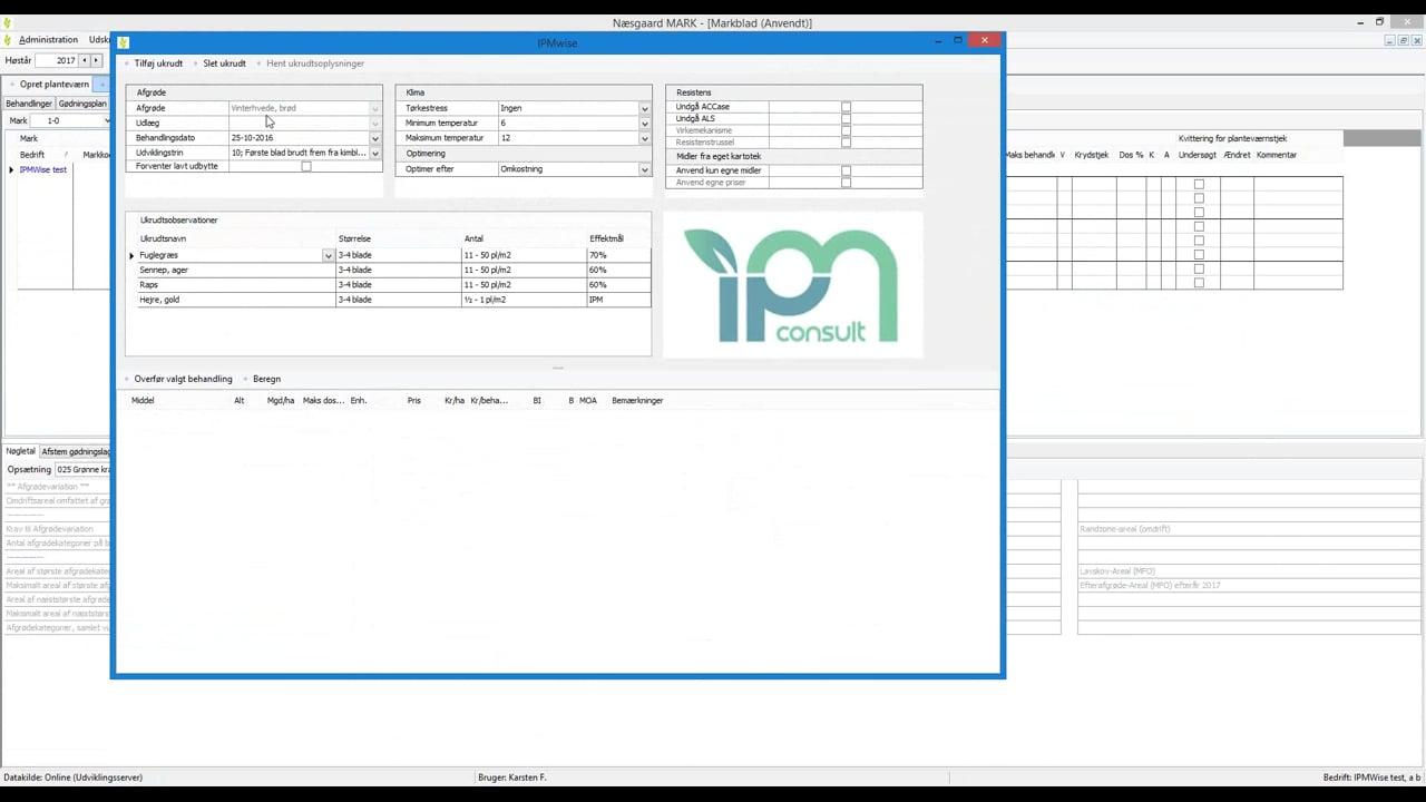 Laer at bruge IPMwise i Naesgaard MARK