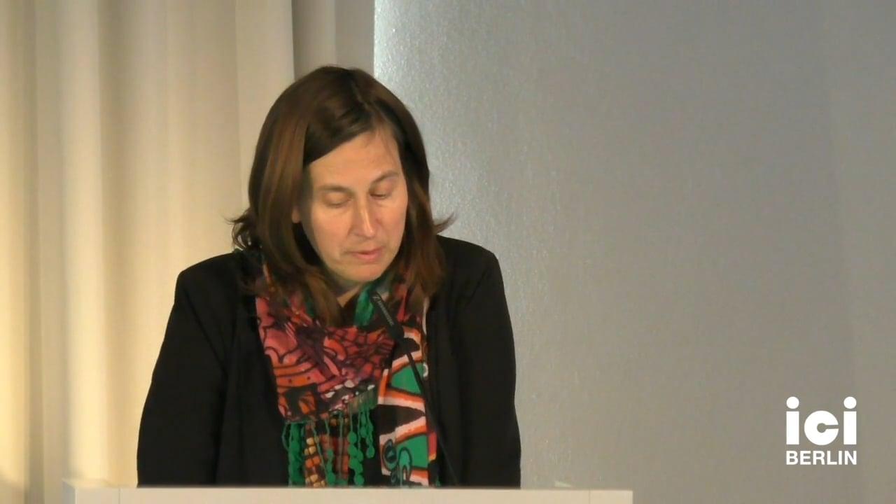 Talk by Kathrin Röggla