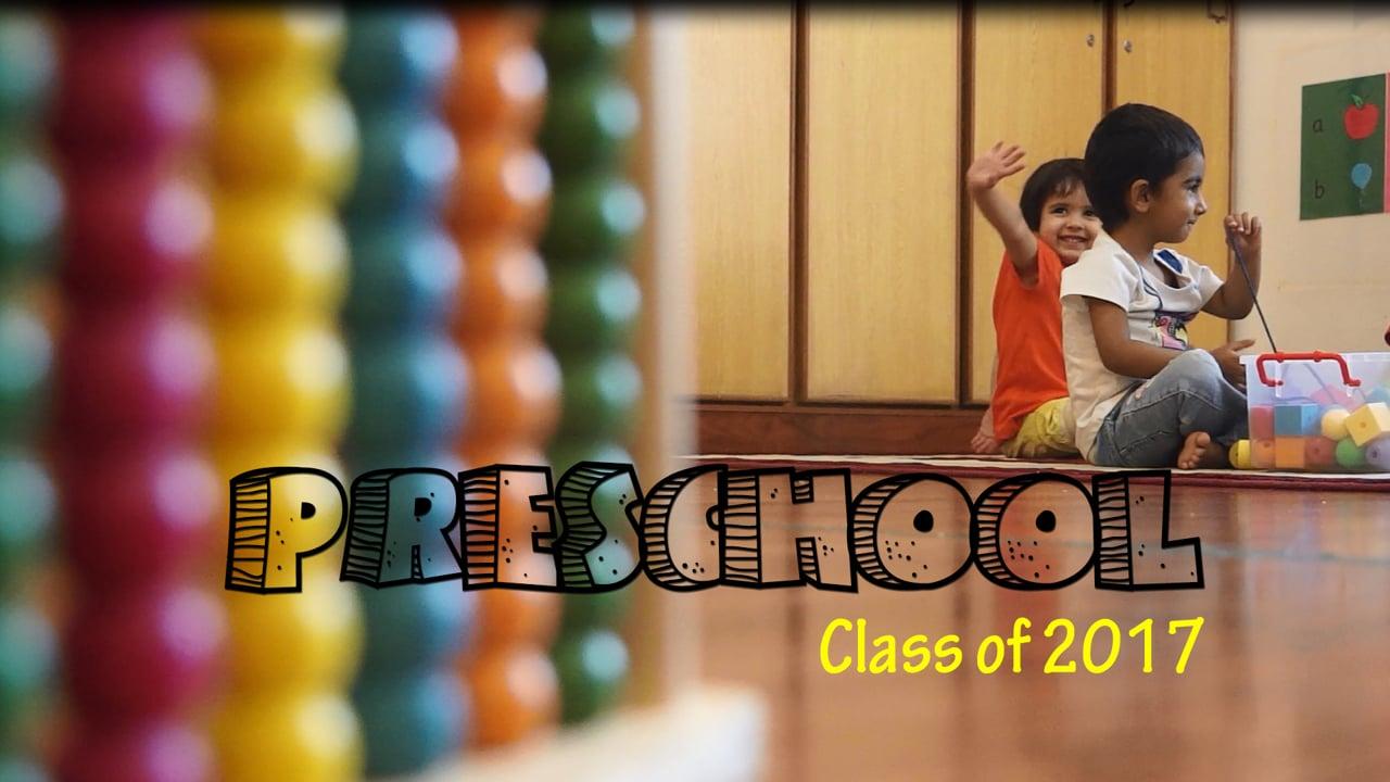 AIS PreSchool Class of 2017-Montage