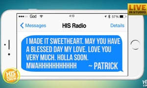 Patrick Means to Text Wife, Accidentally Texts HIS Morning Crew