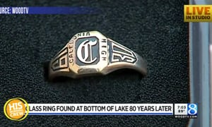 Old Class Ring Found at Bottom of the Lake Returned