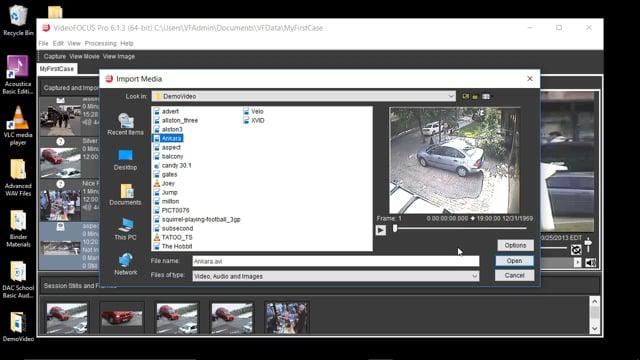 Importing Media Files into VideoFOCUS