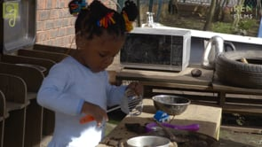 Watch Khloe in the mud kitchen