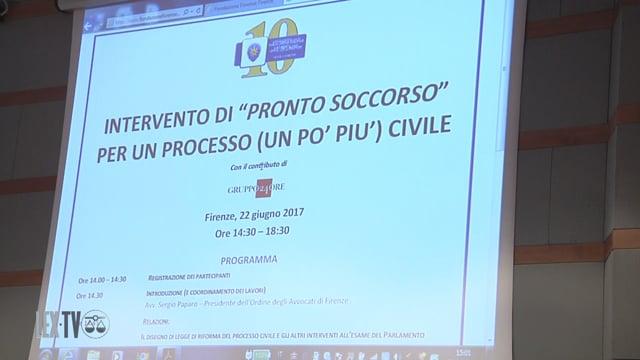 "Da Firenze una proposta per un processo ""più civile"""