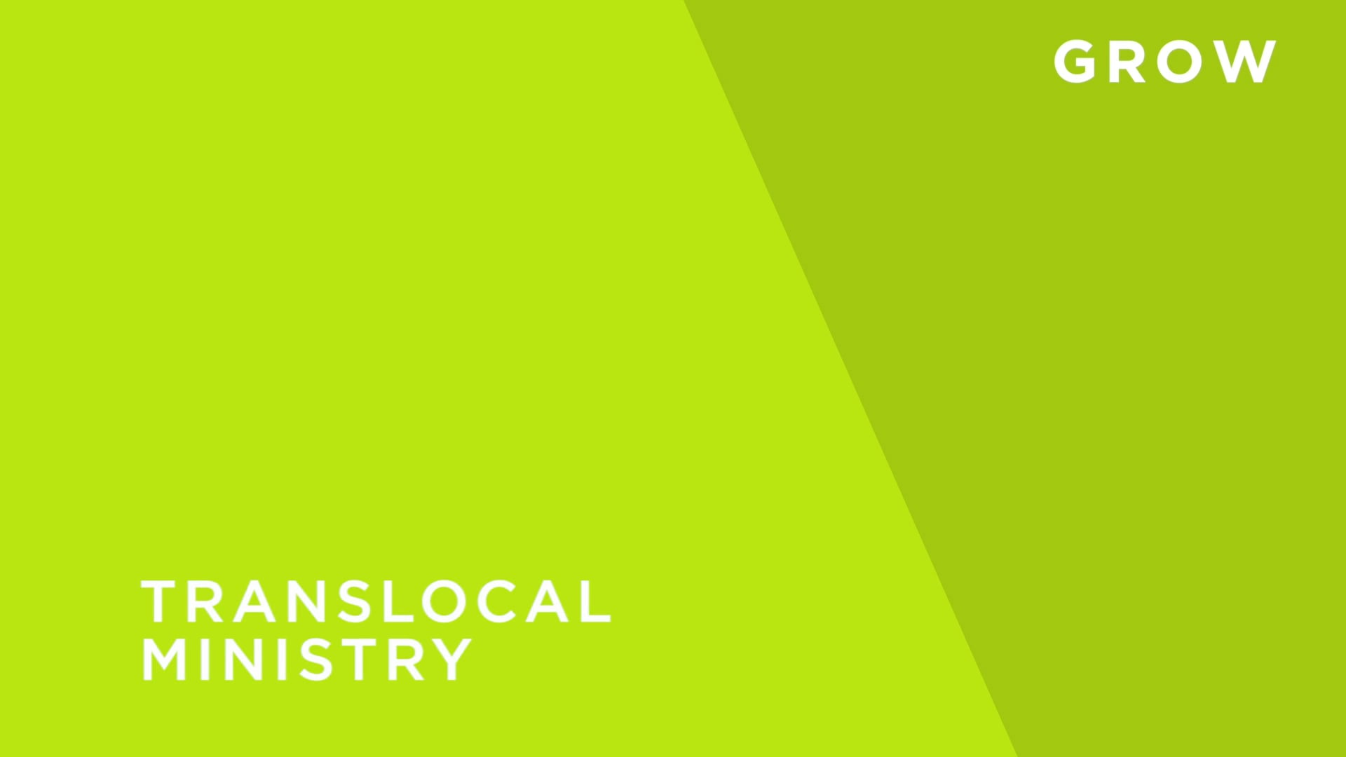 Translocal Ministry
