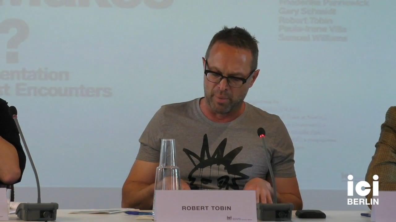 Talk by Robert Tobin (Panel I)