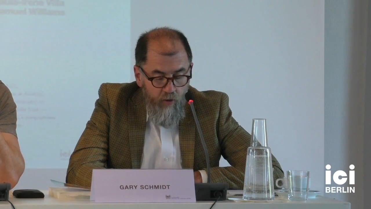 Talk by Gary Schmidt (Panel I)