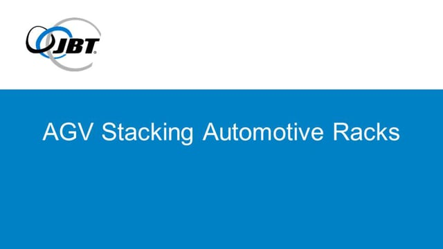Automatic Guided Vehicle (AGV) Stacking Automotive Racks