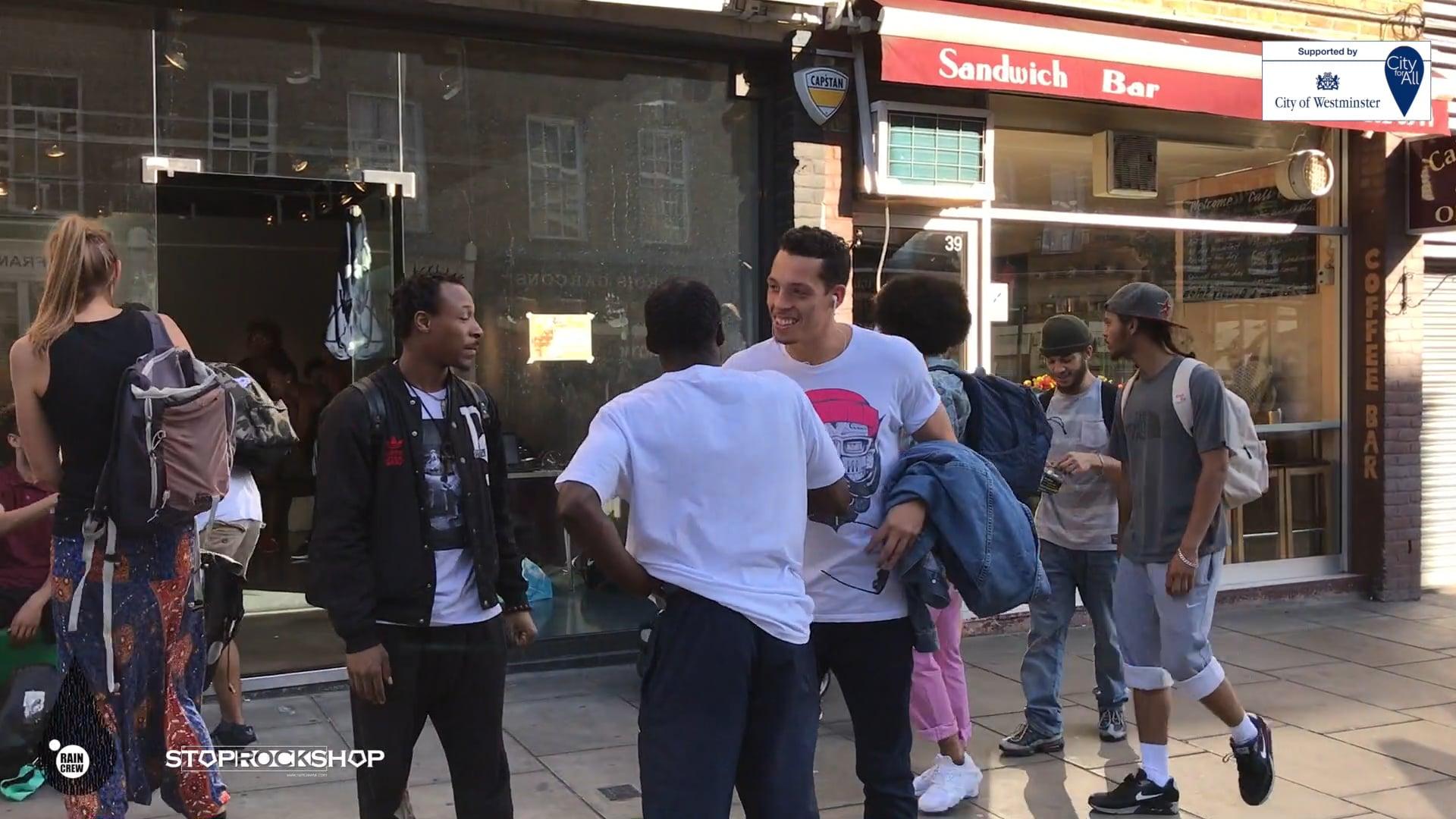 StopRockShop | Rain Crew | Free Pop-up Dance Classes and Battles