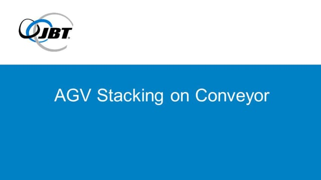 Forklift Automatic Guided Vehicle (AGV) Stacking on Conveyor