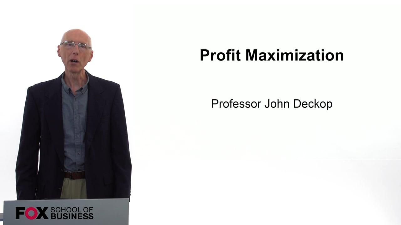 59739Profit Maximization
