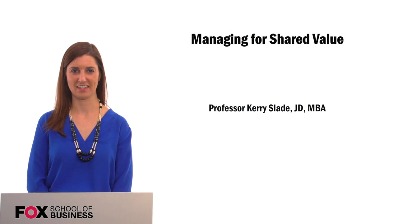 61540Managing for Shared Value