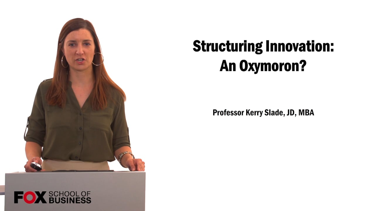 61544Structuring Innovation: An Oxymoron?