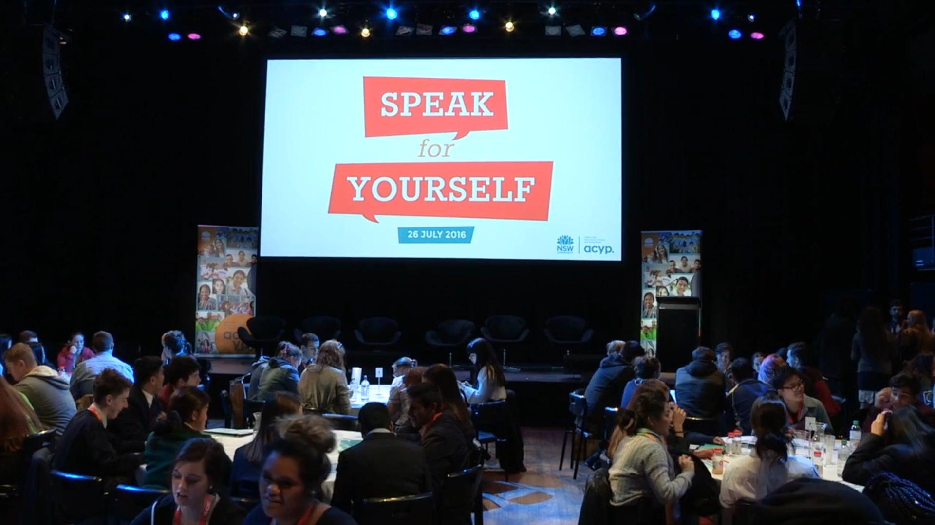 SPEAK FOR YOURSELF HL