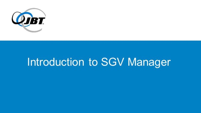 Introduction to SGV Manager Software