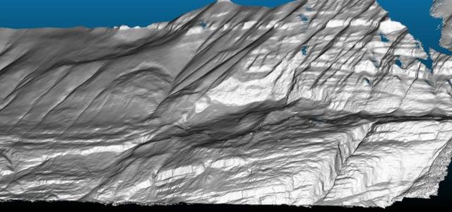 Karrat Fjord landslide - lo-fi hillshade