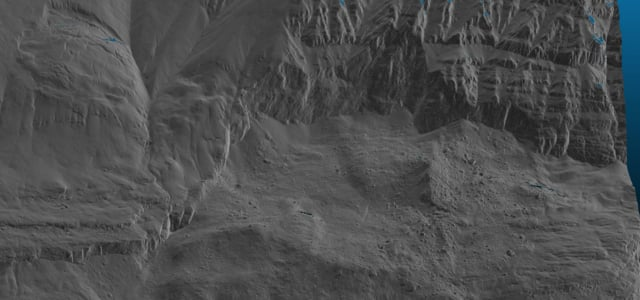 Karrat Fjord landslide - Hi-fi hillshade