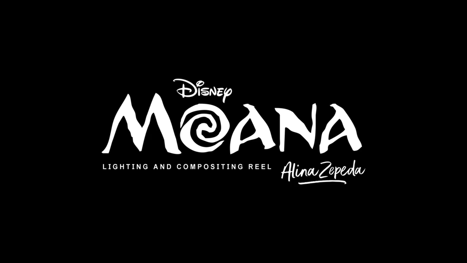 Moana Lighting and Compositing Reel