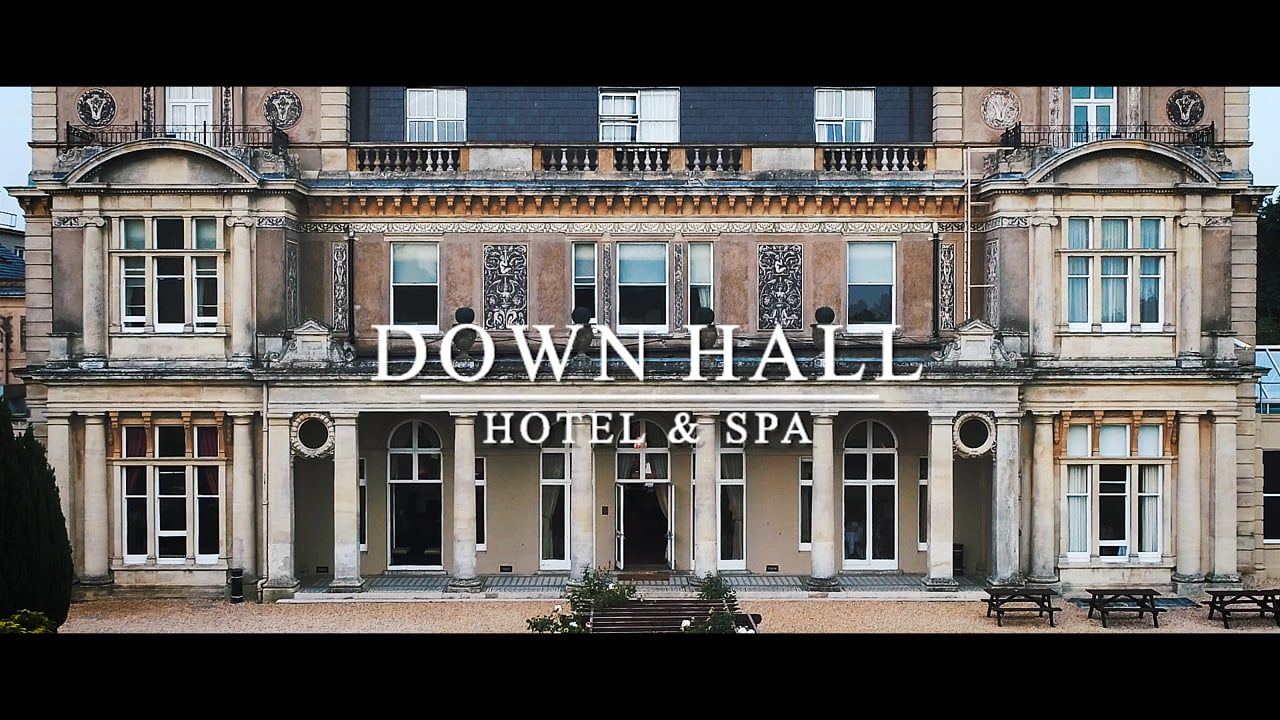 Aerial Drone Videography Down Hall Hotel and Spa Essex.