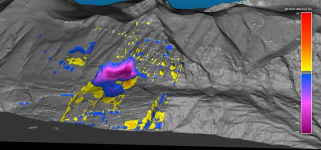 Karrat Fjord landslide change map