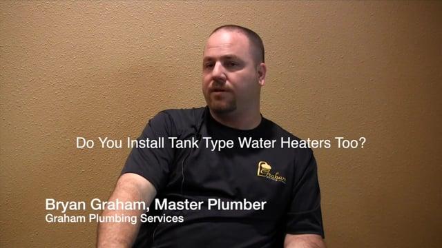 Install Tank Type Water Heaters - Sugar Land Houston