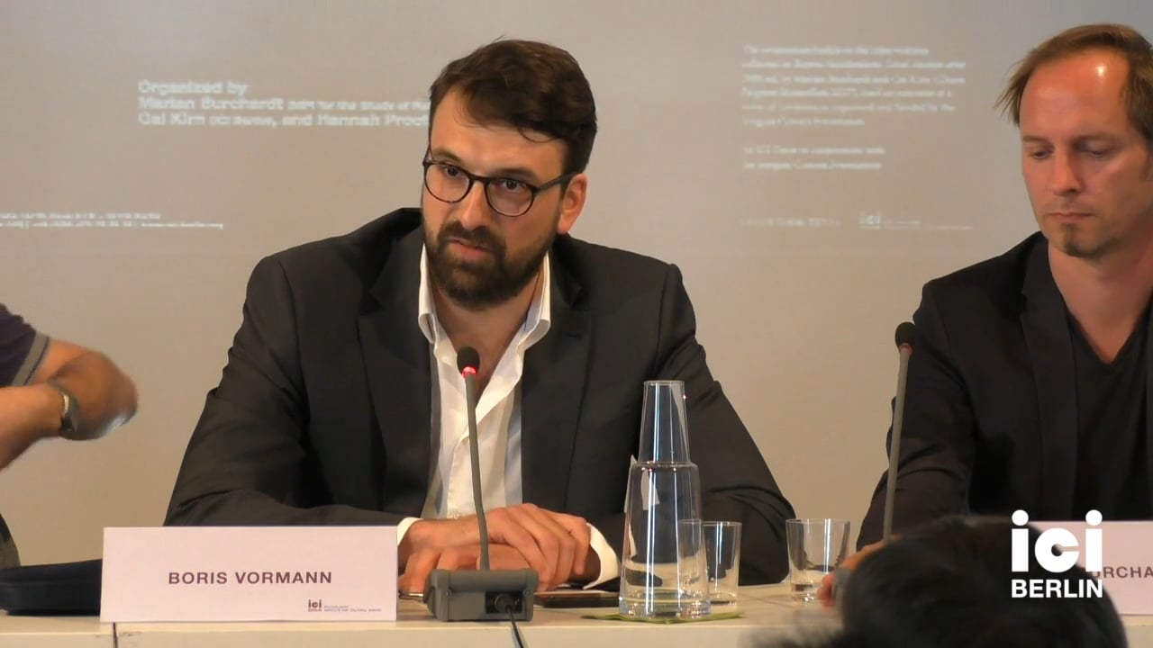 Discussion with Boris Vormann