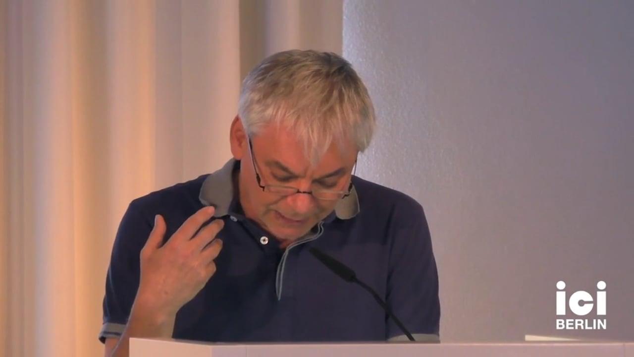 Talk by Boris Buden