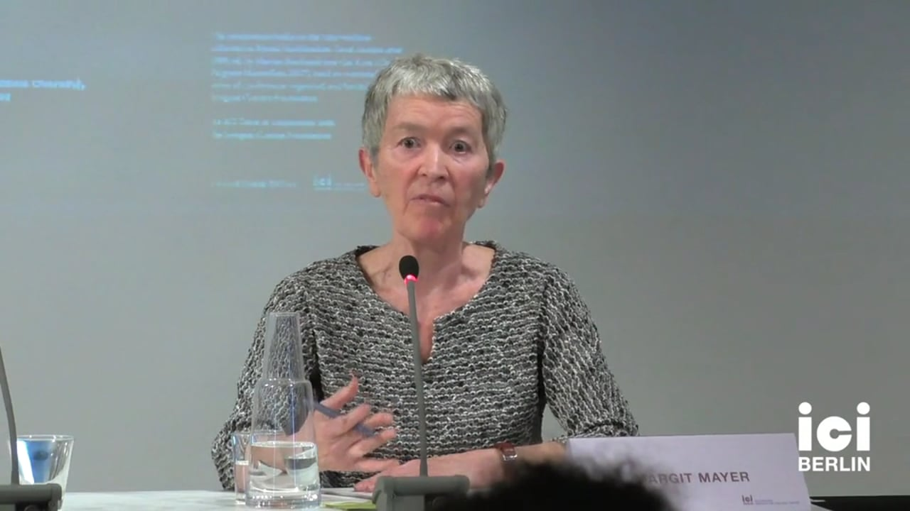 Discussion with Margit Mayer