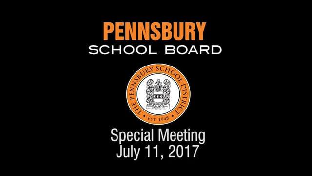 Pennsbury School Board Meeting for July 11, 2017