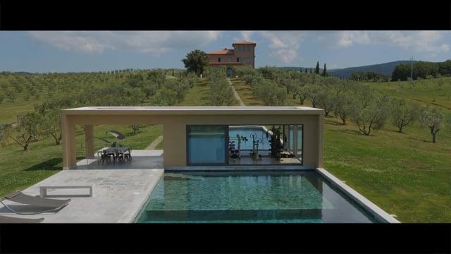 Unique luxury contemporary villa in an olive grove estate