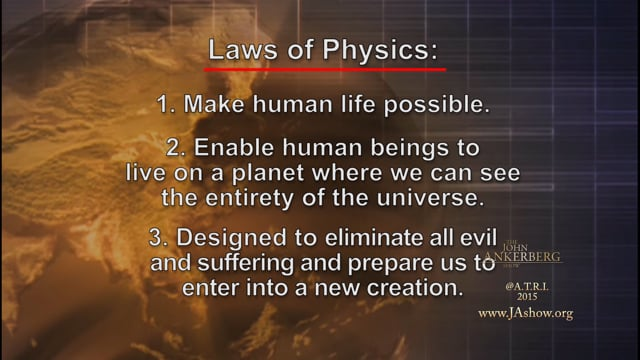 What does the Bible tell us about the laws of physics?