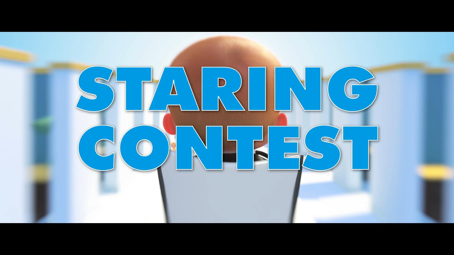 Boss Baby Staring Contest