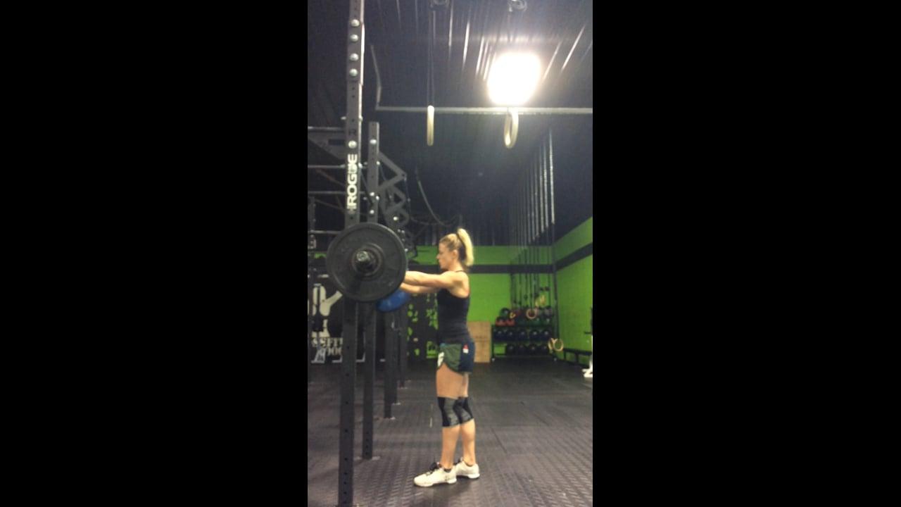 7 rep max back squat @ 210#