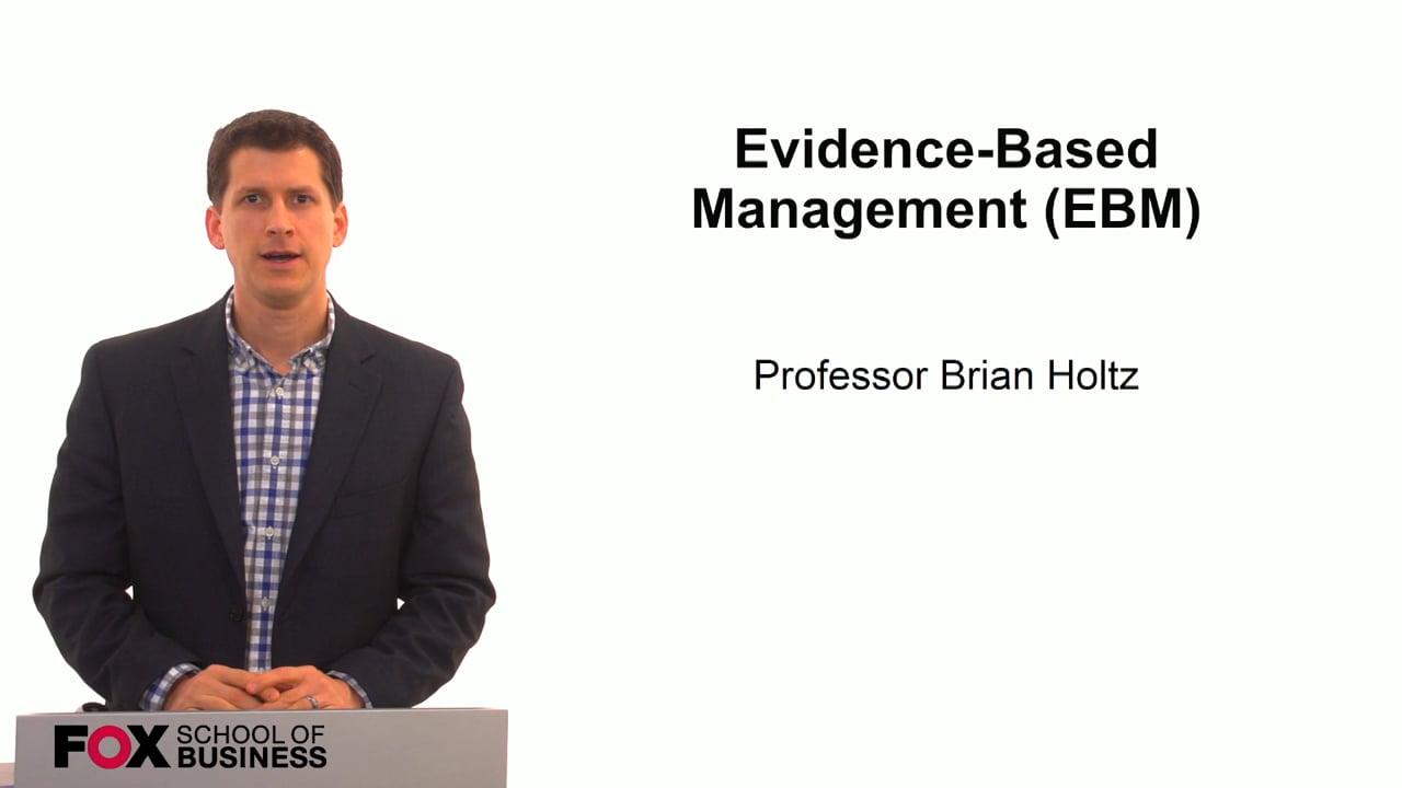 59824Evidence Based Management (EBM)