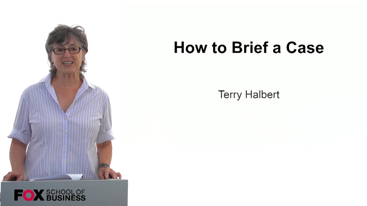 59861How to Brief a Case