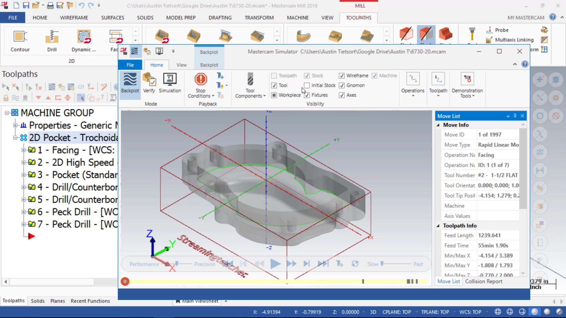 Toolpath and Machining Management