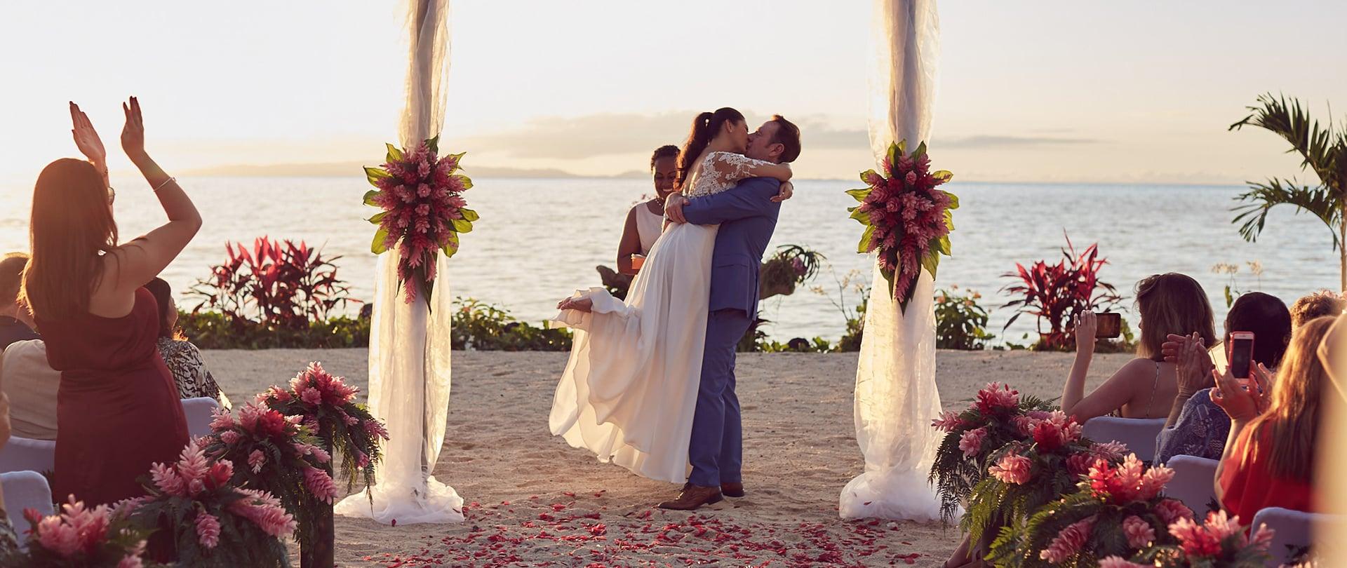 Samantha & Mark Wedding Video Filmed at Laucala Island, Fiji