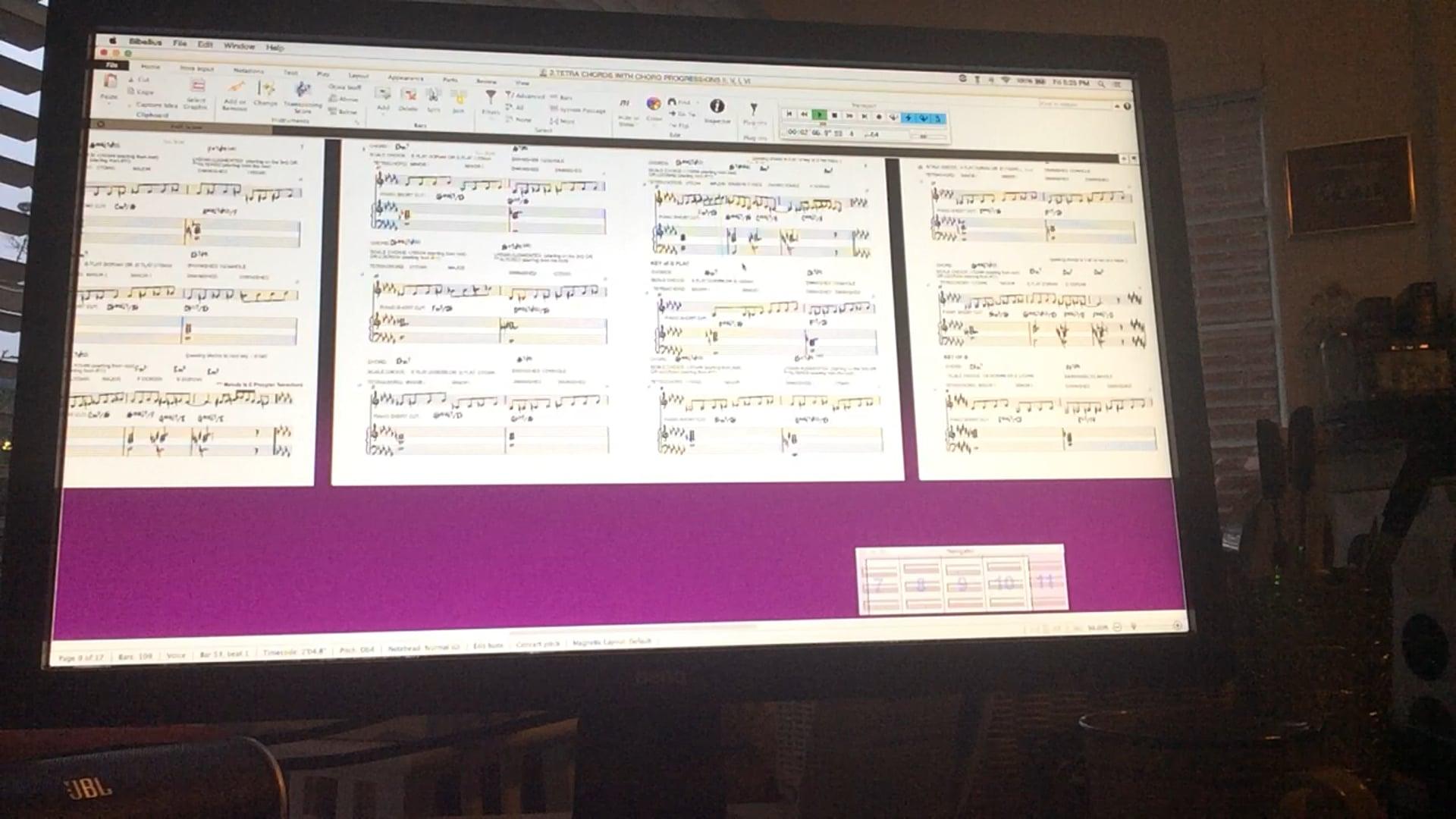 Working with Tetrachords over ii, v, i, vi progression